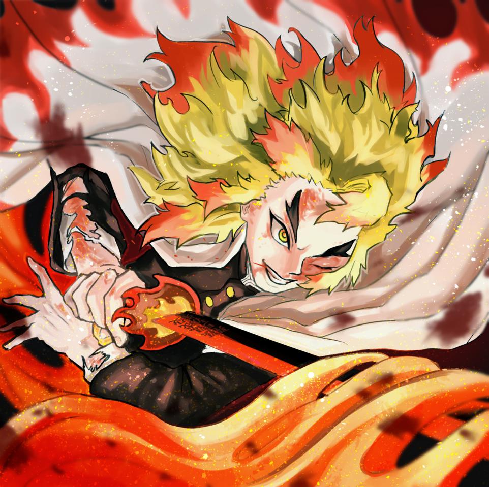 煉獄 Illust of カラスロ DemonSlayerFanartContest デジタルイラスト fanfic KimetsunoYaiba 炎