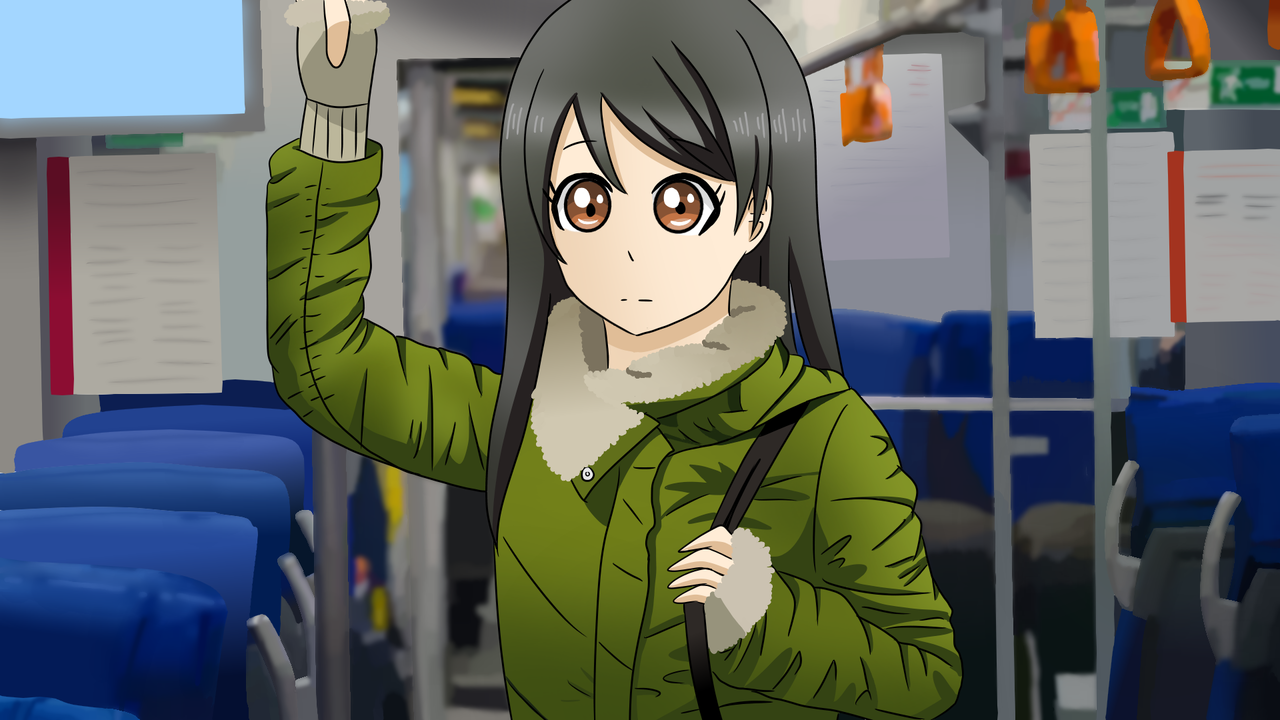 Train Ride Illust of Audrey medibangpaint