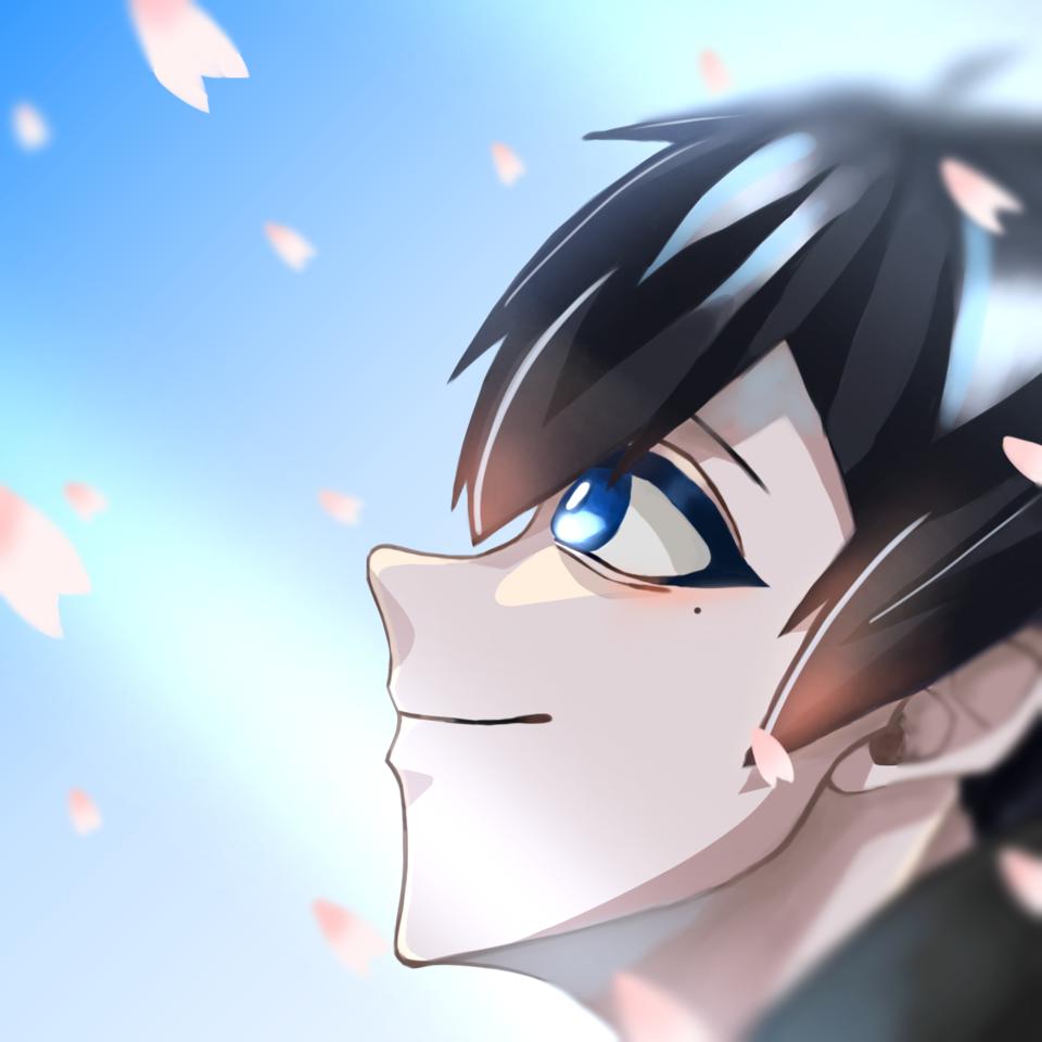 尾も白い春 Illust of 猫丸 ワイテルズ blue きんとき sakura