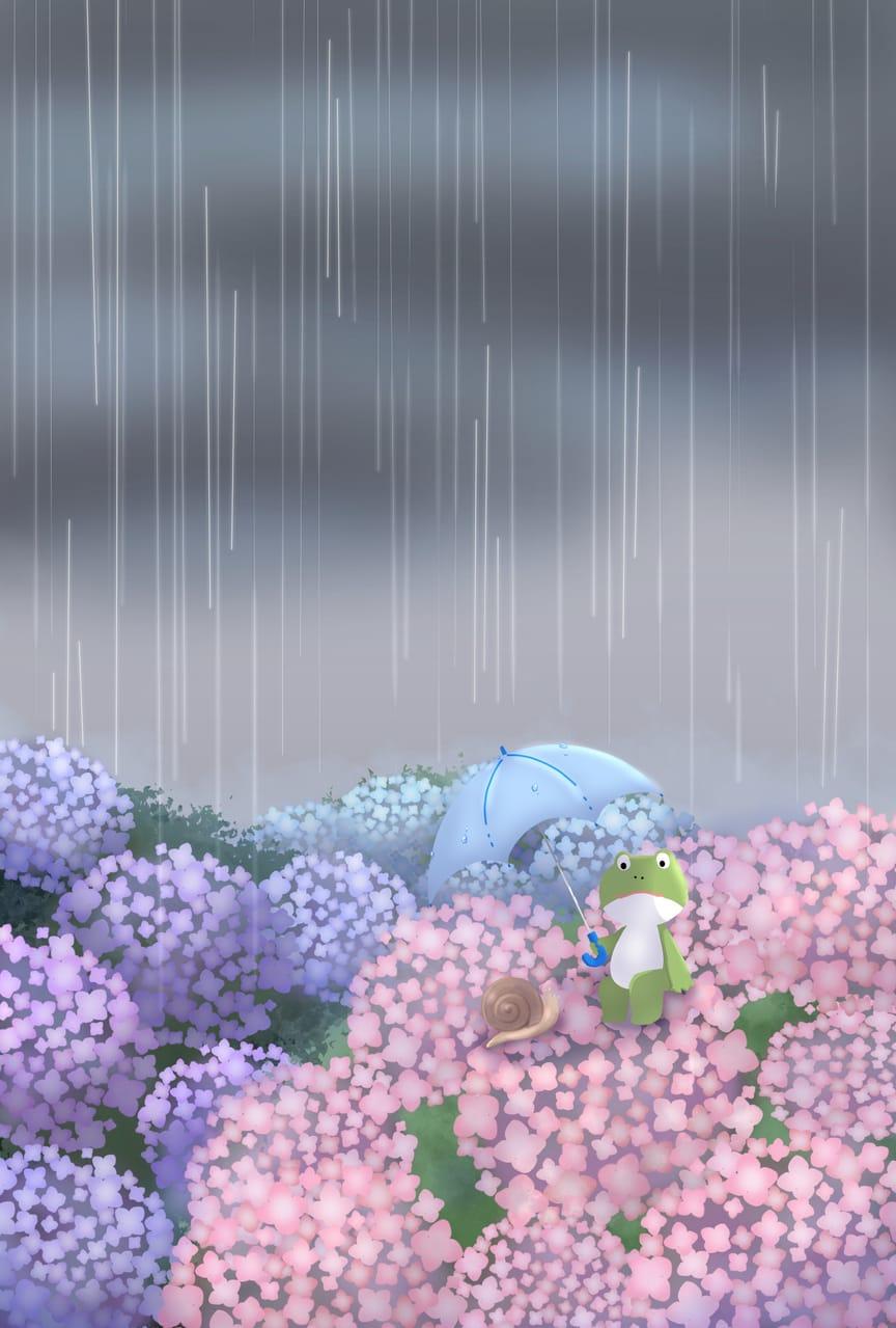 梅雨 Illust of 笑い猫 original umbrella