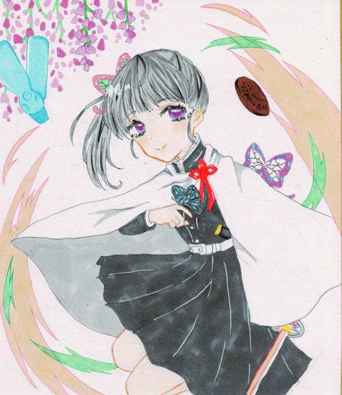 リクエスト カナヲちゃん Illust of うるここ アカ🔺 KimetsunoYaiba うるここ TsuyuriKanao