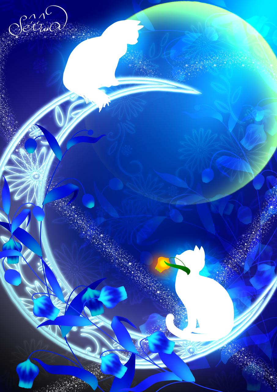 いじっぱりな君 Illust of せつら original cat 幻想的 blue サンダーソニ