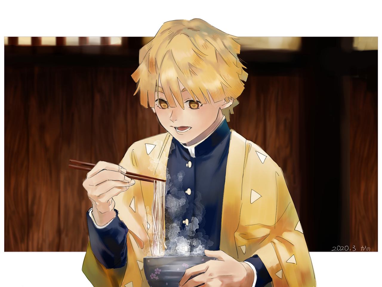 ぜん Illust of かのsan medibangpaint AgatsumaZenitsu 蕎麦 KimetsunoYaiba