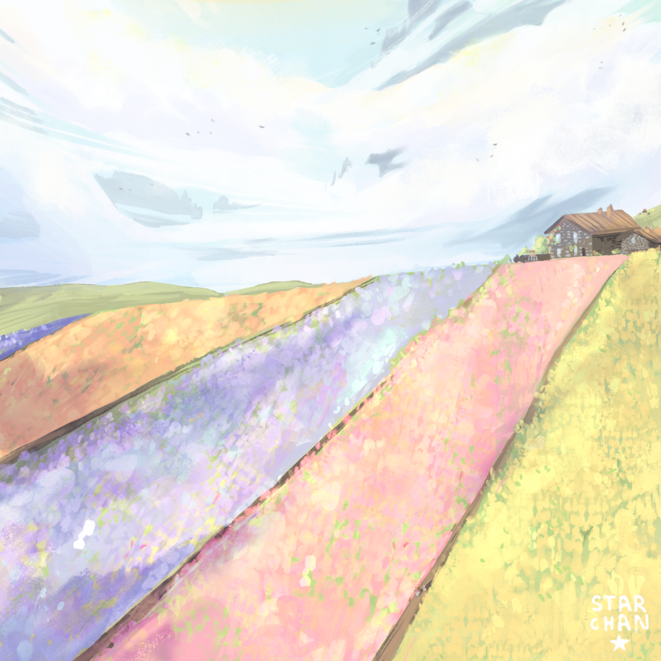 Flower field  Illust of Starchan April.2020Contest:Color flowers scenery