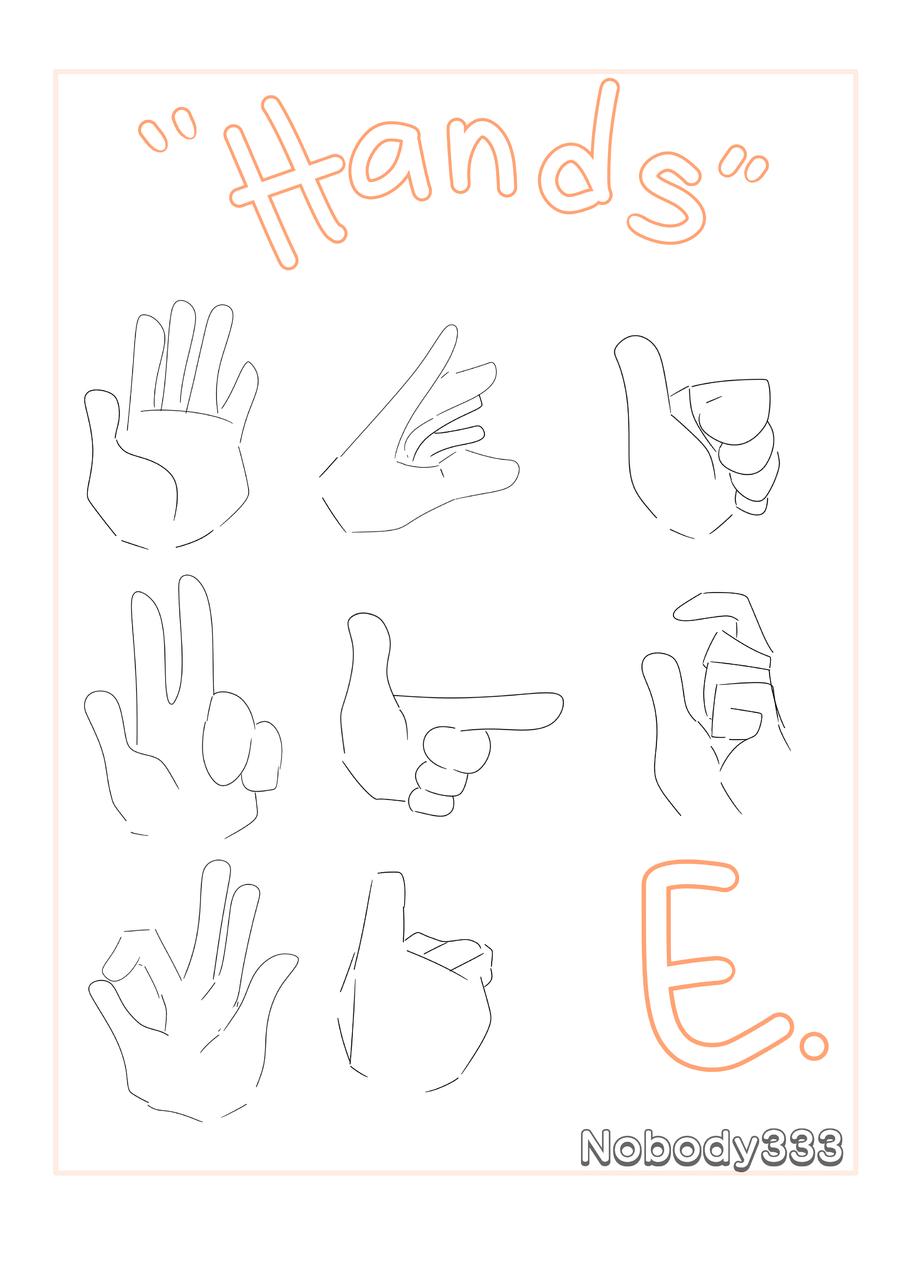 Practicing hands-  Illust of Nobody333 medibangpaint hand Stupiddrawing Pratice Idk white Fuckingshit Orange