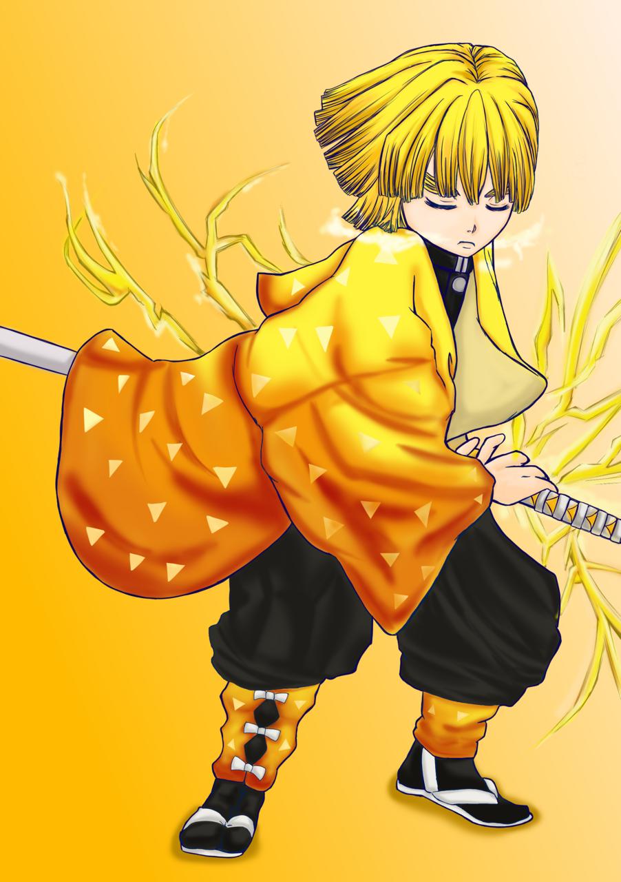 我妻善逸 Illust of ちょこん DemonSlayerFanartContest AgatsumaZenitsu boy KimetsunoYaiba