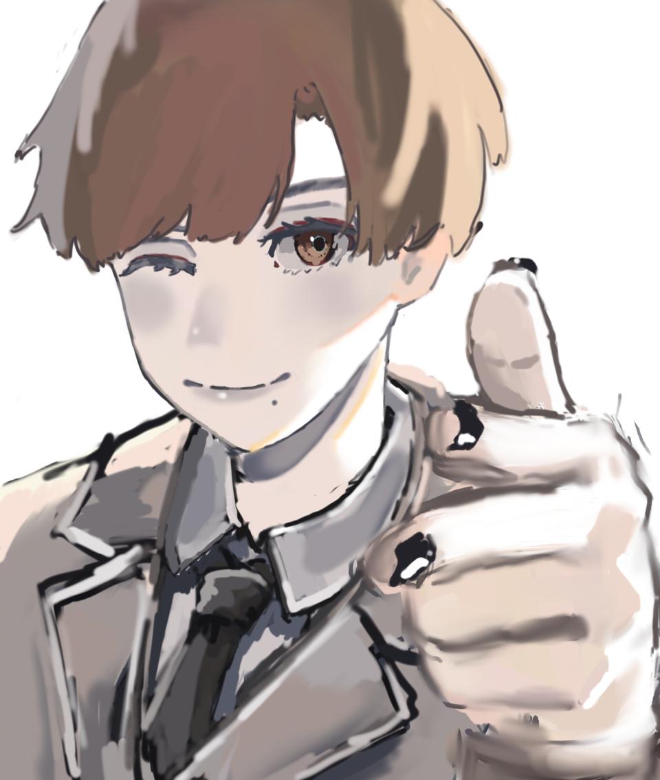 Illust of w 過程 メイキング boy