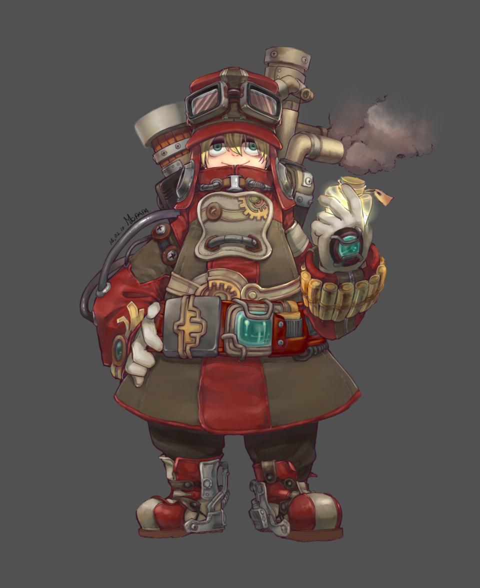 포트폴리오용 그림 Illust of RAMD manga character steampunk cute soldier