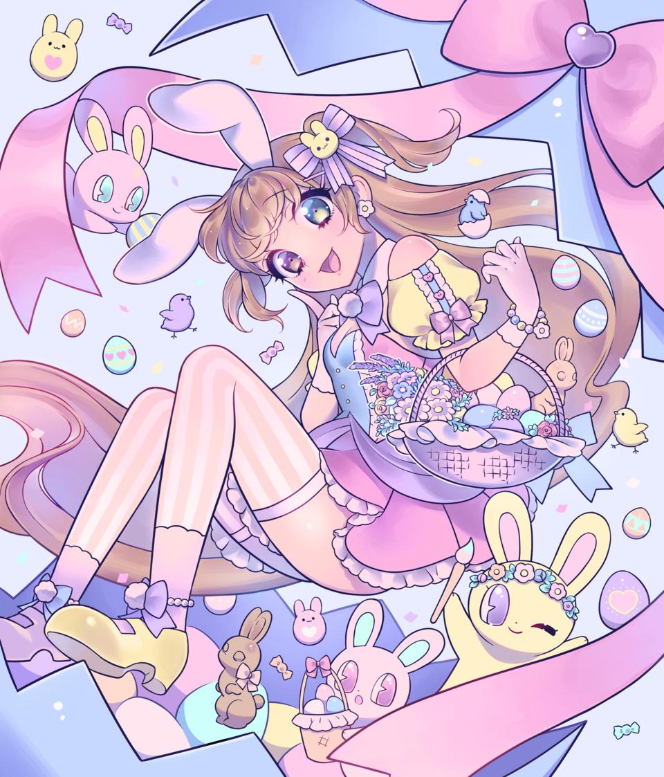 たまごのなかから Illust of スイタ March.2020Contest:Easter イースター girl うさ耳