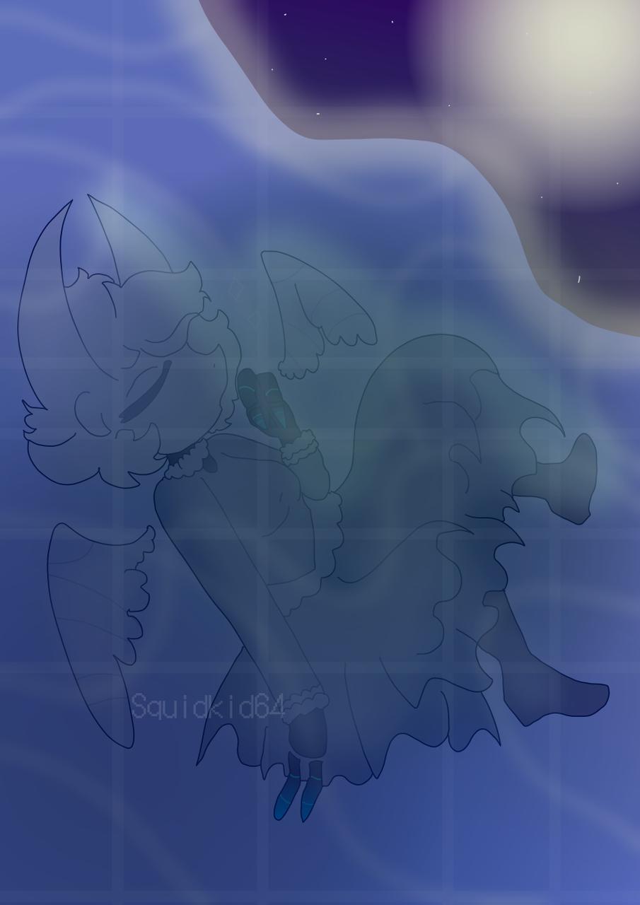 Blue Lake Illust of Squidkid64 medibangpaint Hollow_Knight stress_relief oc