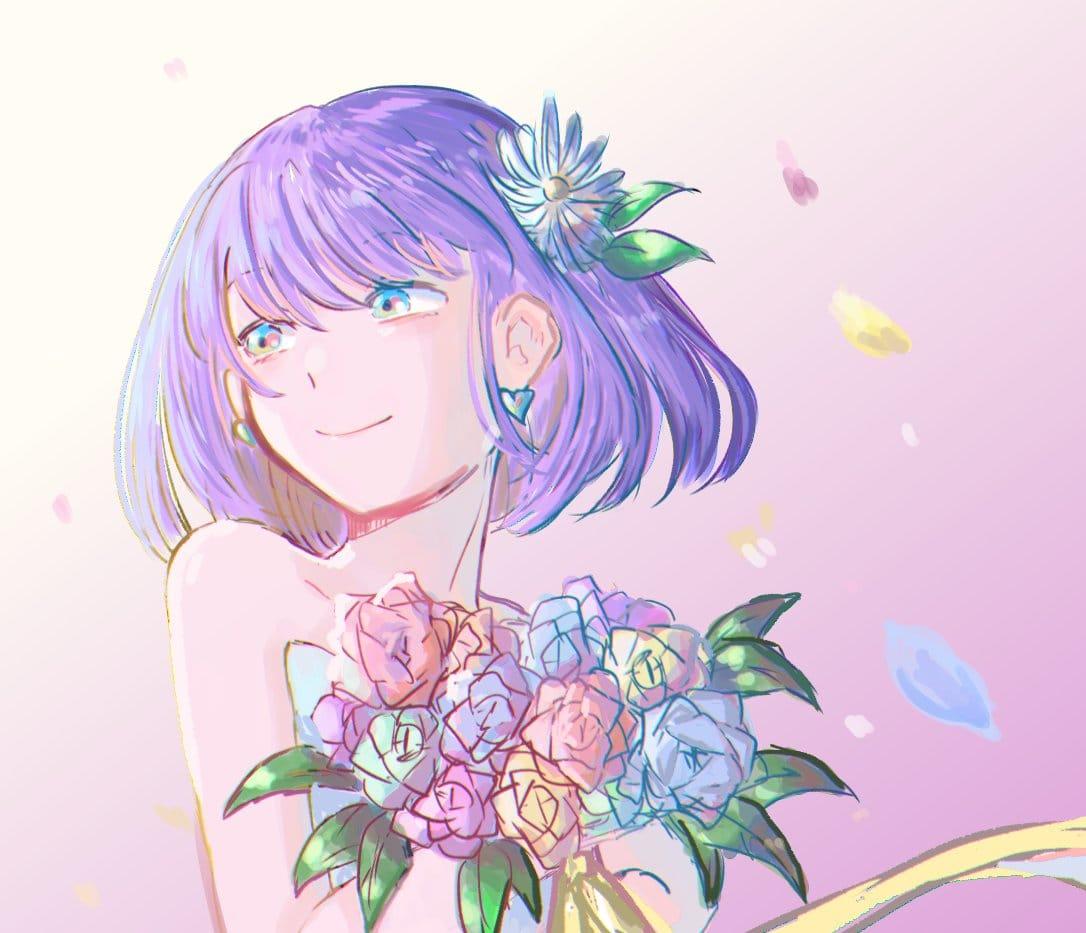 淡い花 Illust of はねづ パステルカラー レッツワンドロ