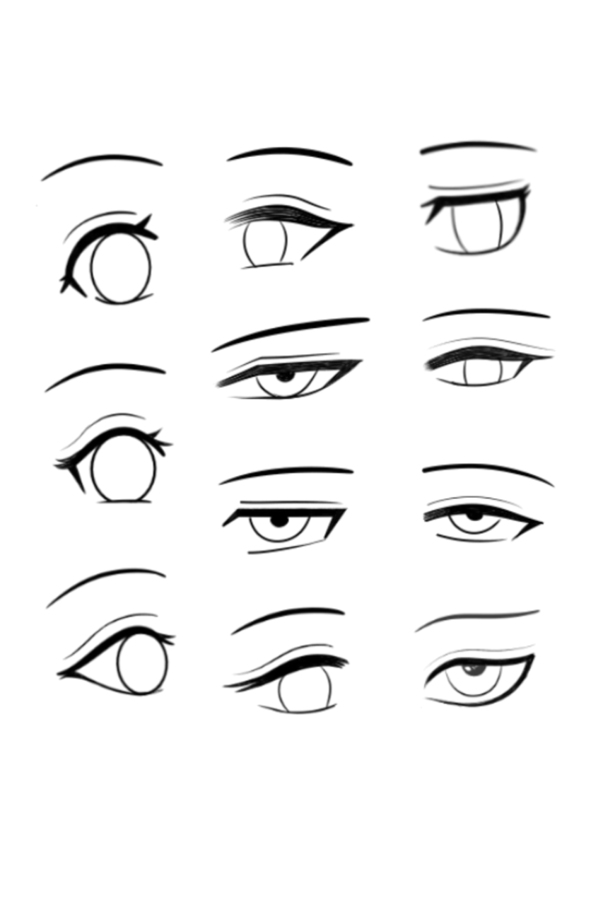 眼型线稿 Illust of 毁梦碎心 medibangpaint original line_art medibang 黑白 art eyes