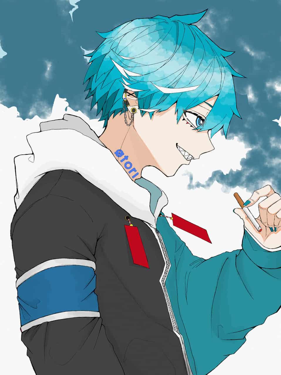 Brat Illust of をとり art blue oc medibangpaint illustration boy