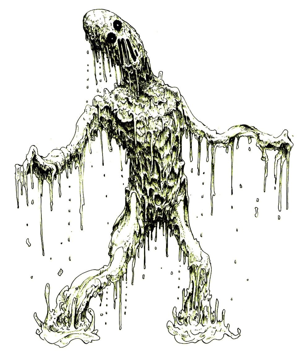 ゾンビ Illust of 竹林一 fantasy horror February2021_Fantasy March2021_Creature zombie ペン画 クリーチャー art アナログ アンデッド monster original