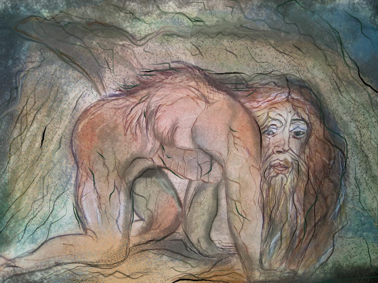 William Blake Titolo : Nebuchadnezzar Illust of Grandicelli Susanna MasterpieceFanart art fan
