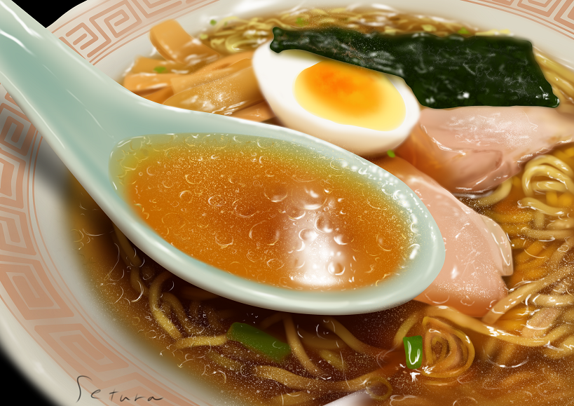 ラーメン(練習) Illust of せつら Ramen 模写 飯テロ food