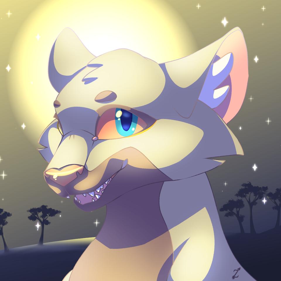 TurboSun's pfp Request Illust of Zyvra Dragonfyre medibangpaint cute animal desert furry request pfp Lion oc