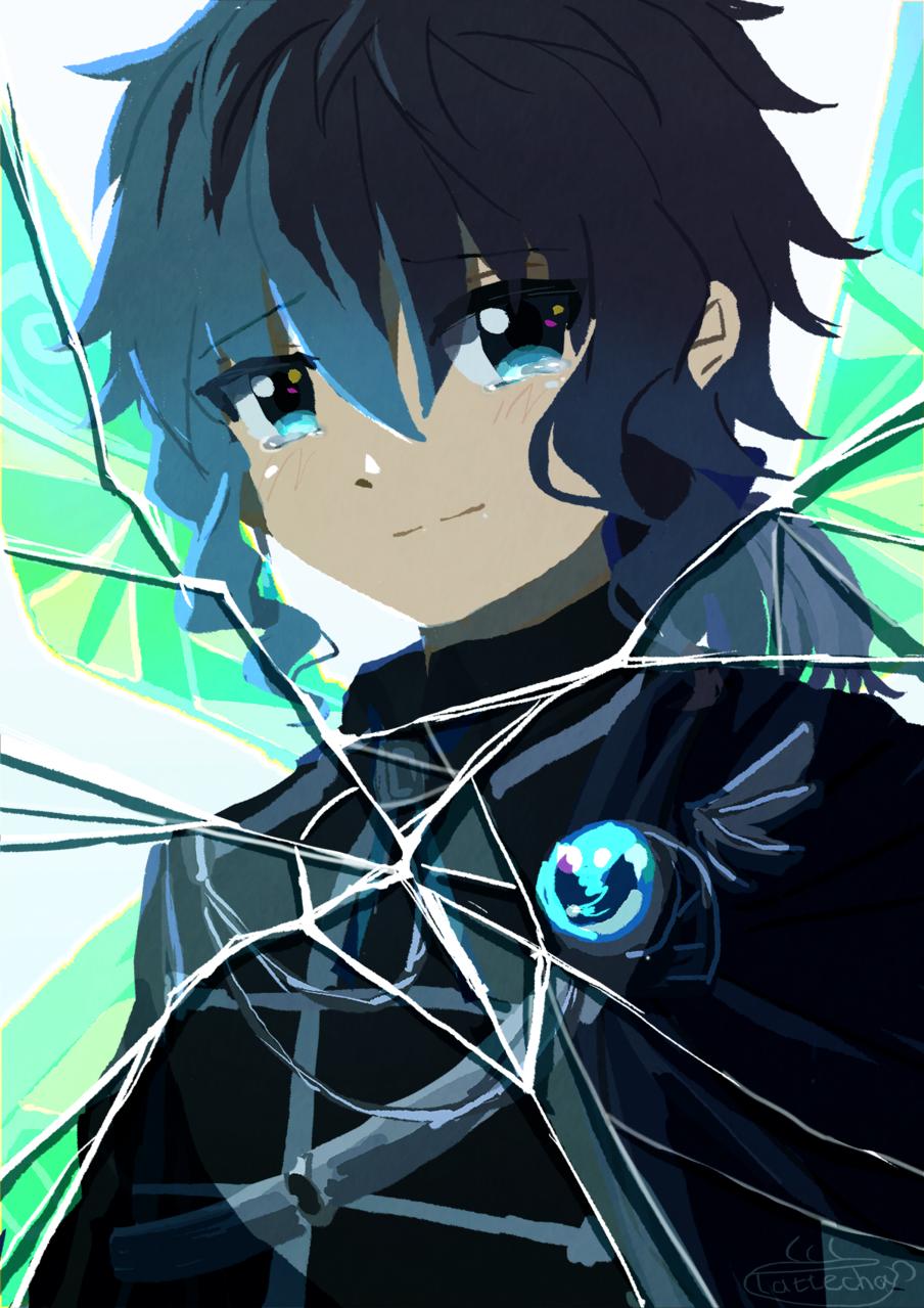 冷たい鏡の中の妖精 Illust of ラテ茶 boy original oc fairy 泣き顔