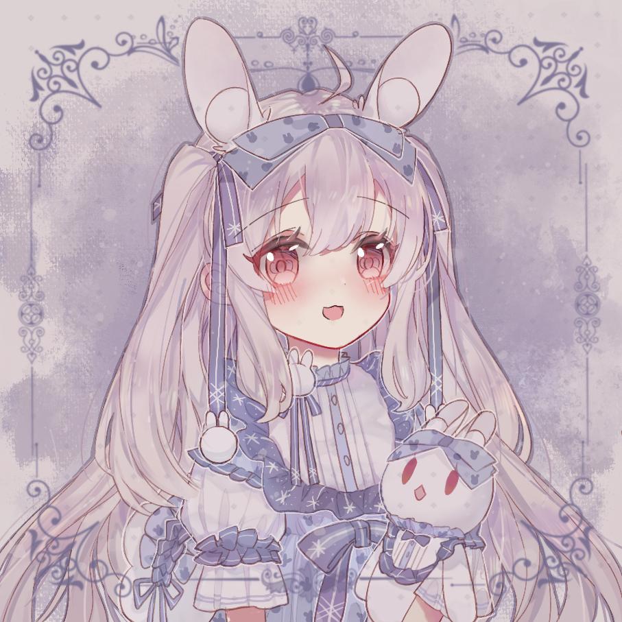 一只雪兔子🐰 Illust of mieolala medibangpaint