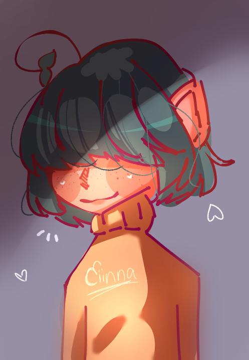 For a dta adopt Illust of Ciinnanya! oc anime aesthetic help idk medibangpaint glow style
