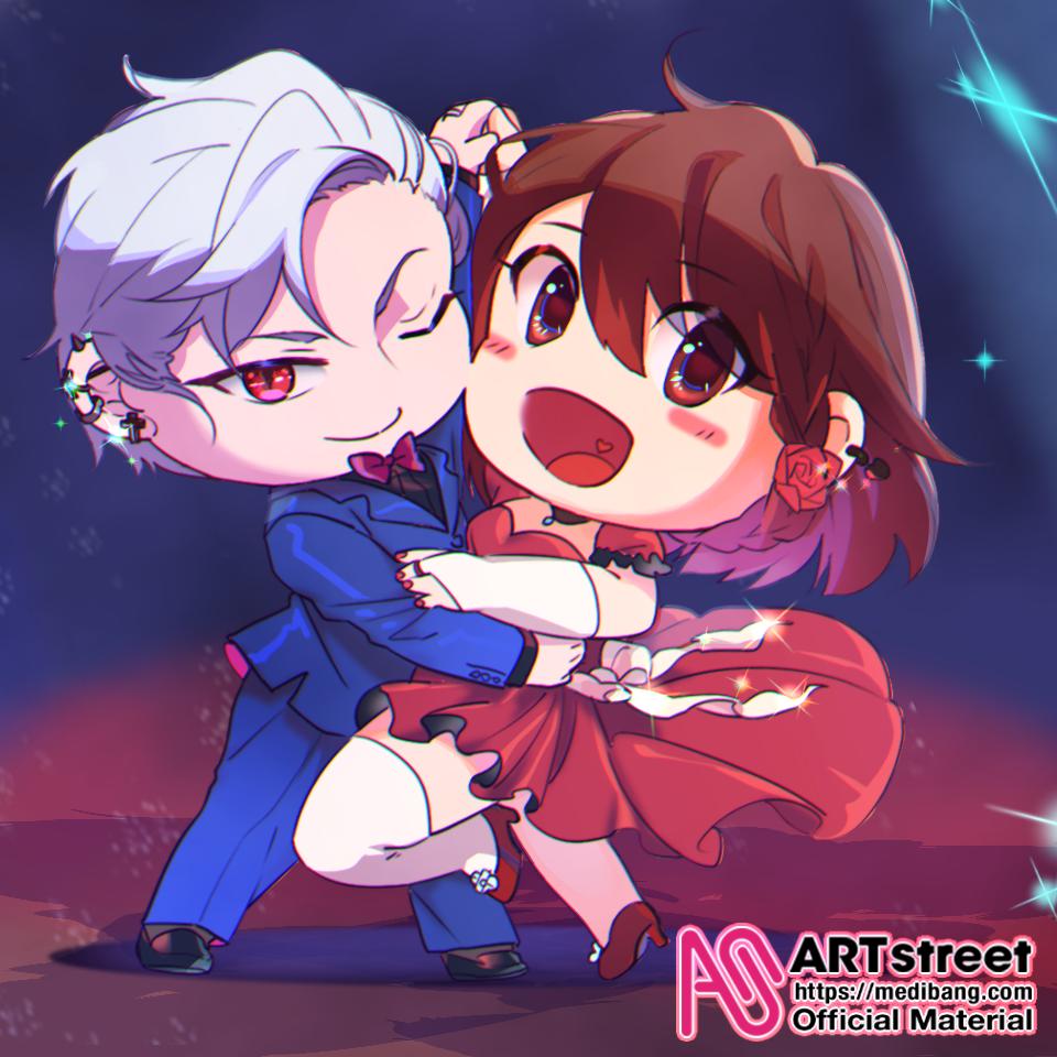 ヴァンパイアさんとダンス! Illust of 小伊水 tracedrawing