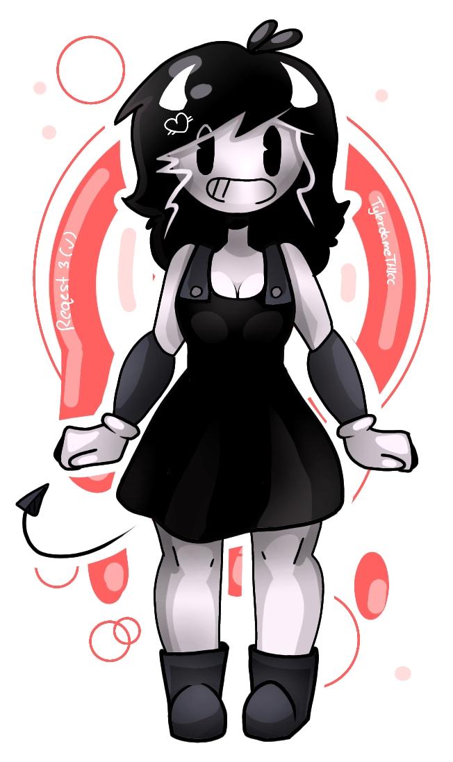 Request 3 (✔️)  Illust of TylerdameTHICC medibangpaint anime Bendy machine the cute BatIM and ink