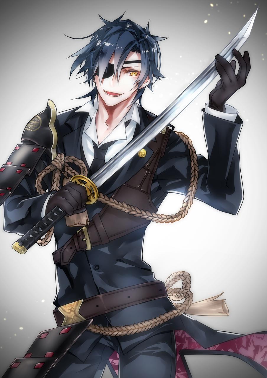 燭台切光忠 Illust of 弥次郎 eyepatch 日本刀 燭台切 Touken_Ranbu 燕尾服
