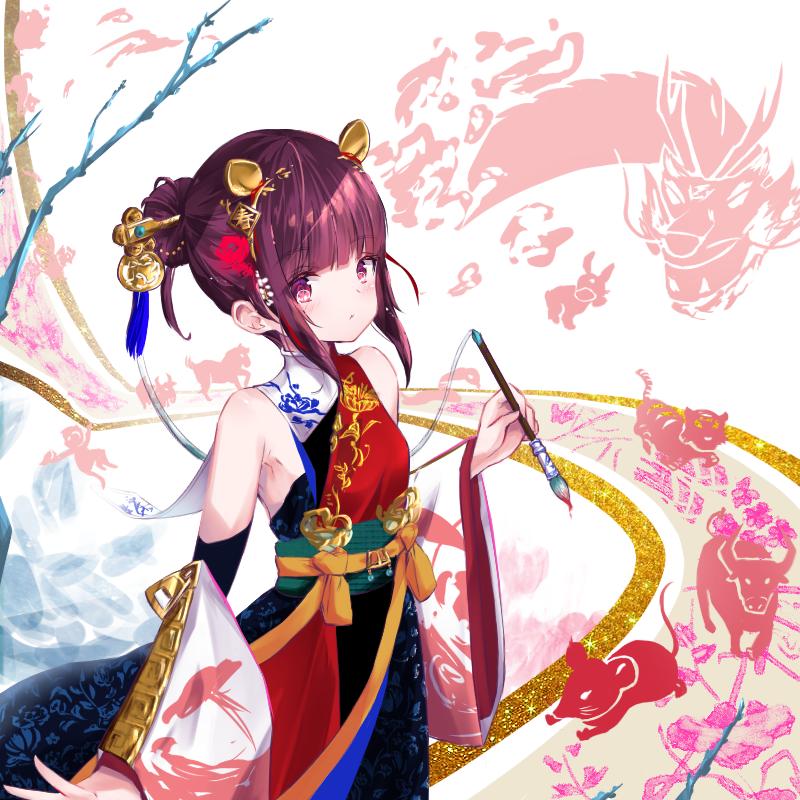 立春 Illust of 小朱泡麵 Jan.2020Contest 春 kimono 干支 girl