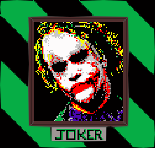 Joker Illust of CaptainGusto portrait funny fanart pixelart anime joker Batman