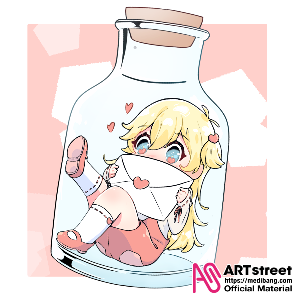 Message in a Bottle Illust of グー tracedrawing4th cute Trace&Draw【Official】