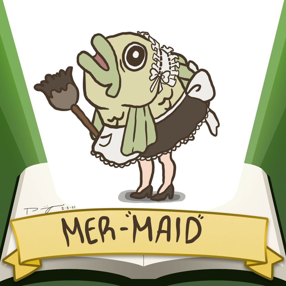 Mer-Maid *badum tss Illust of Doymek SoBadItsGood contest maid iPad fish mermaid fairytale