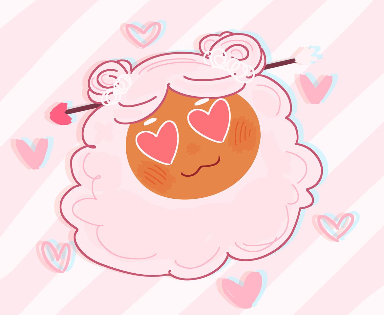 Cotton Candy Cupid 💌💘 Illust of sunflemi Cookie_Run fanart art