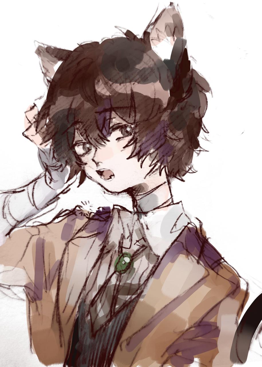 喵喵喵 Illust of sayori medibangpaint Bungo_Stray_Dogs 太宰治 cat_ears