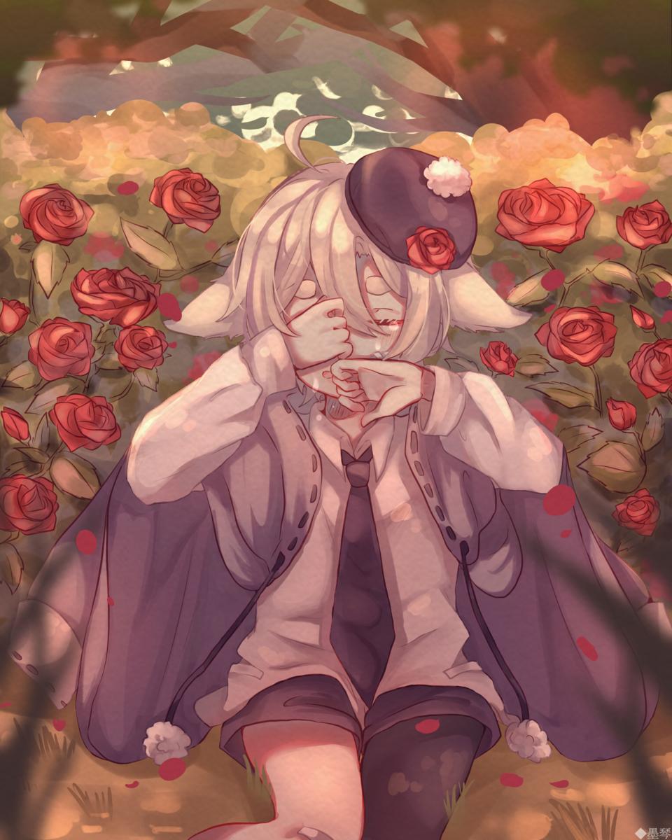 🌹淚 Illust of もち 墨琴 kyoto-illust2019 medibangpaint flower rose