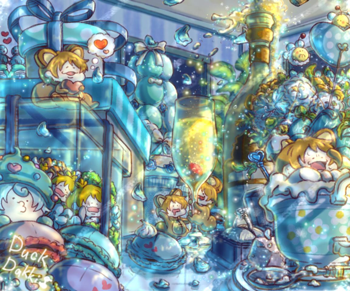 ホワイトデーの朝日 Illust of あひるのダッキー original お菓子 風景画 flower 夜景 scenery