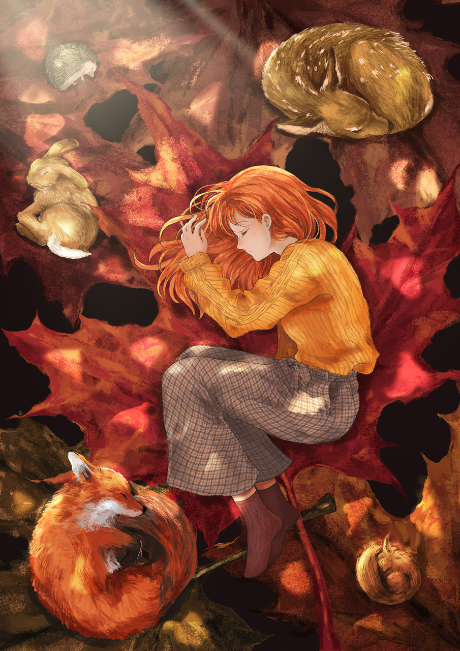 秋の眠 Illust of 士雷 Sep.2019Contest