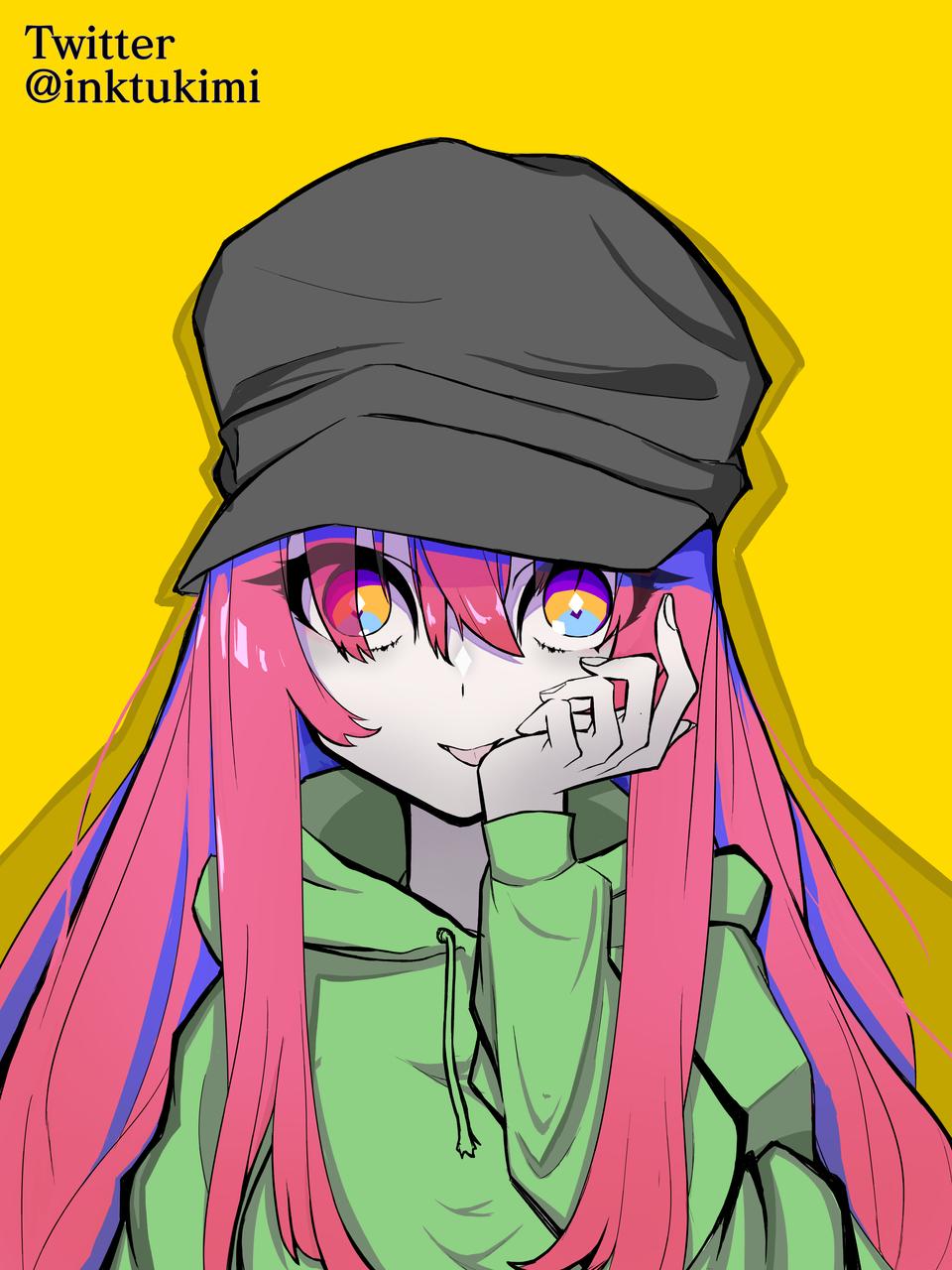 赤髪少女 Illust of 奏白屋 medibangpaint girl 美少女 赤髪 illustration クール