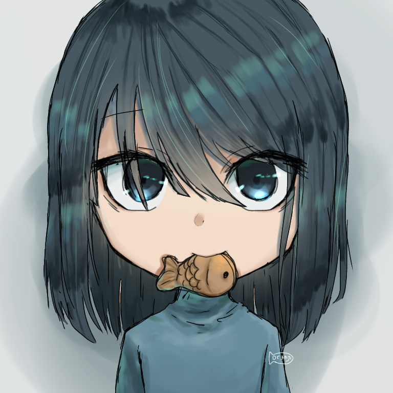 fish Illust of 0r3njii art illustrtion girl fish cute anime doodle animegirl loli chibi