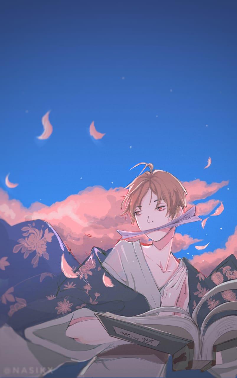 夏目友人帳ファンアート Illust of Nasikx medibangpaint fanart animefanart digitalillustration oc Natsume'sBookofFriends natsume myoc digitalpainting