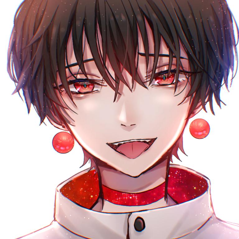 黒髪赤眼くん Illust of ペニーパニー boy 黒髪 oc original