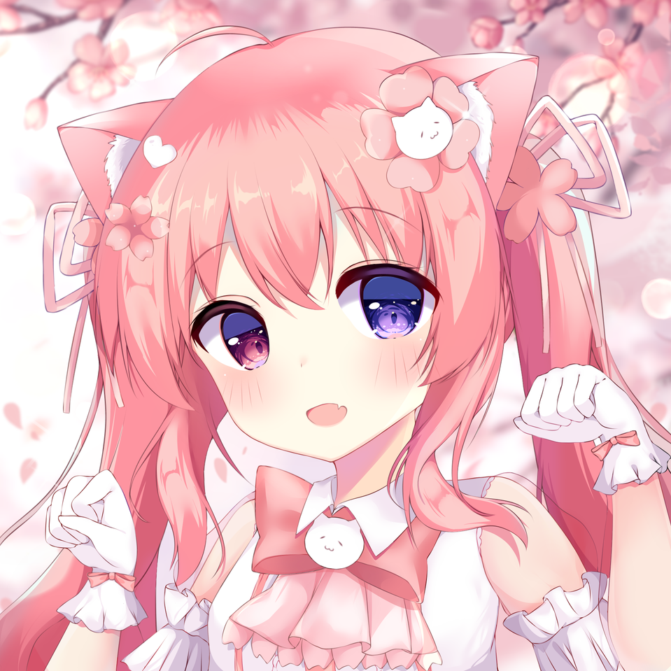 Illust of 星野(ほしの) medibangpaint girl pinkhair cat_ears