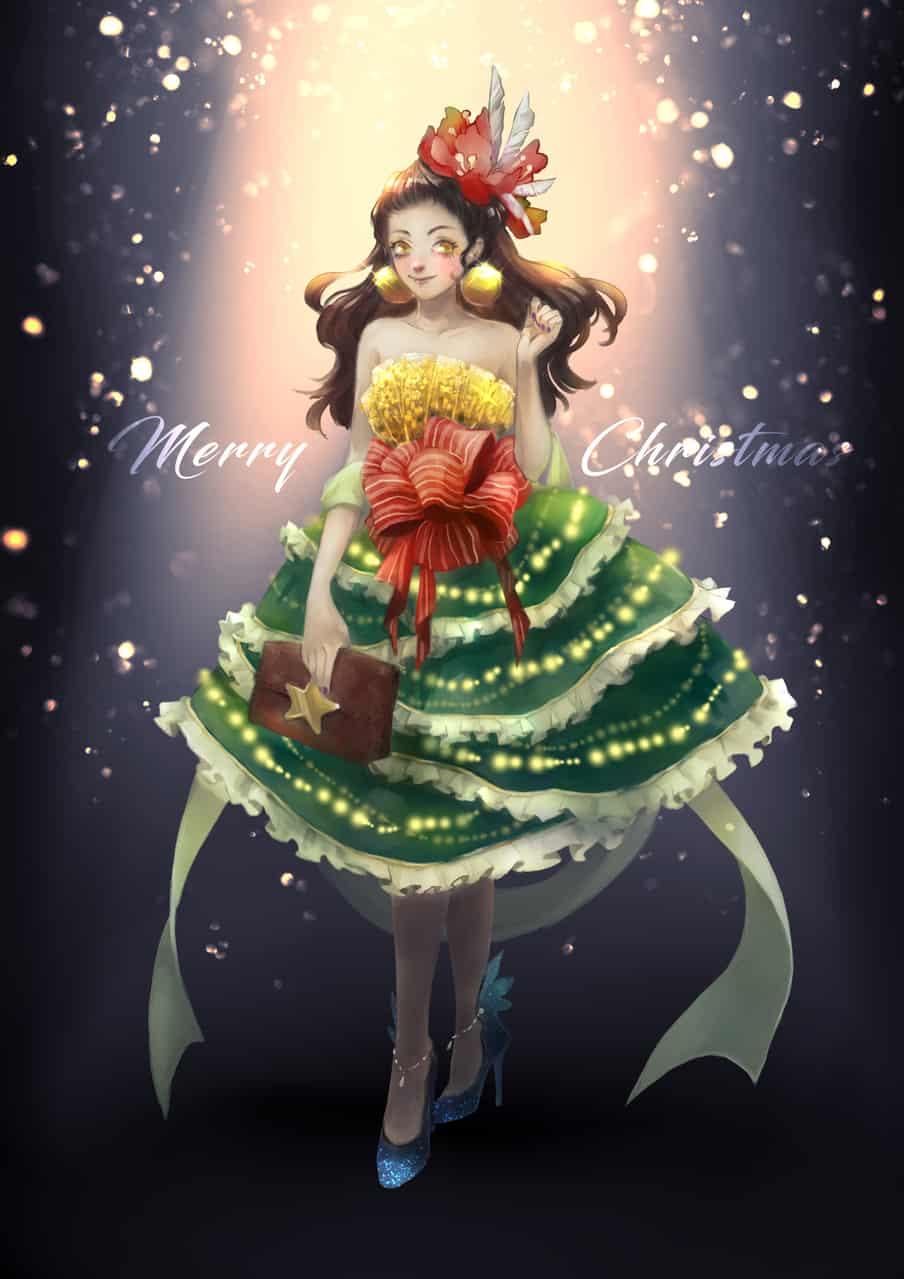 聖誕樹♡ Illust of wasenski 聖誕 dress 聖誕樹 Christmas 聖誕賀圖