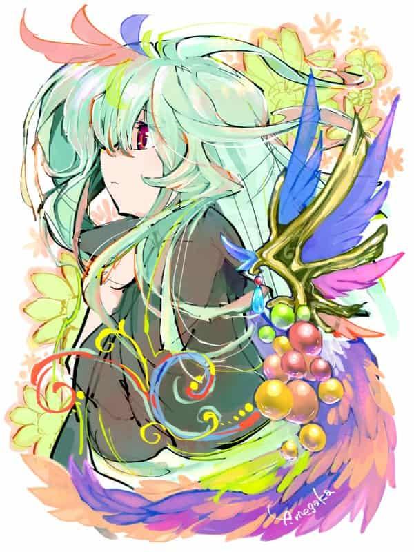 Hidden emotions Illust of 芽ヶ可ゆい original girl カラフル