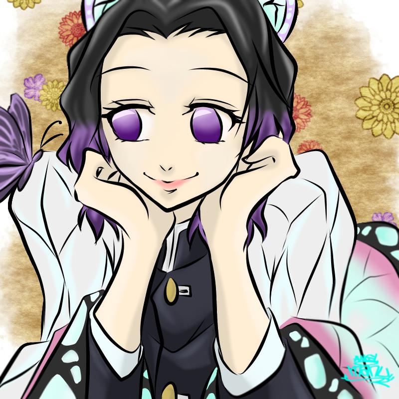 鬼滅の刃    しのぶchan♪ Illust of Manu butterfly girl KochouShinobu kawaii 姉妹 しのぶ KimetsunoYaiba