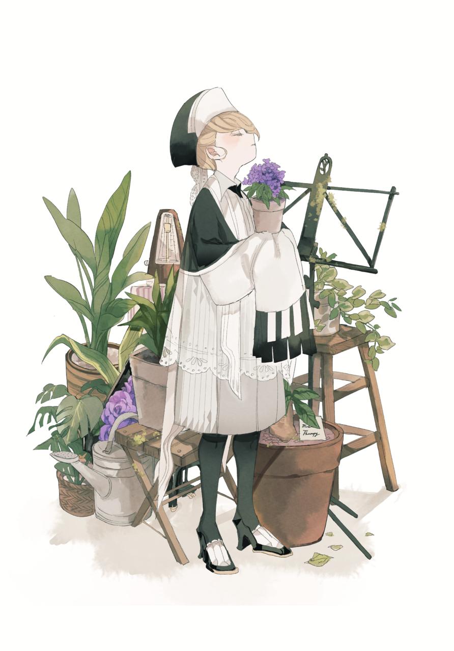 カンタービレ Illust of ひがしの flower illustration 植物 original piano