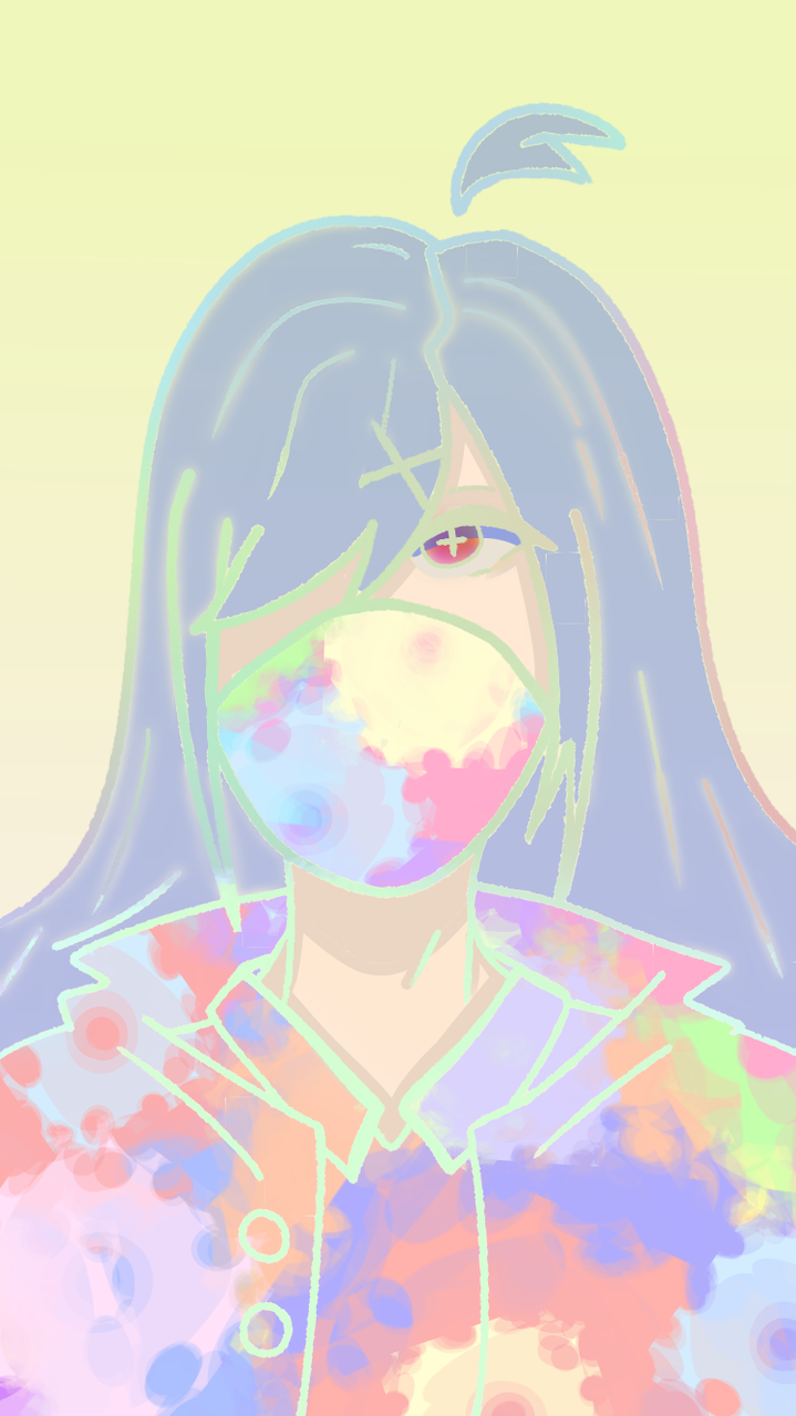 Haha rainbow go brrr Illust of Paper medibangpaint rainbow girl mask