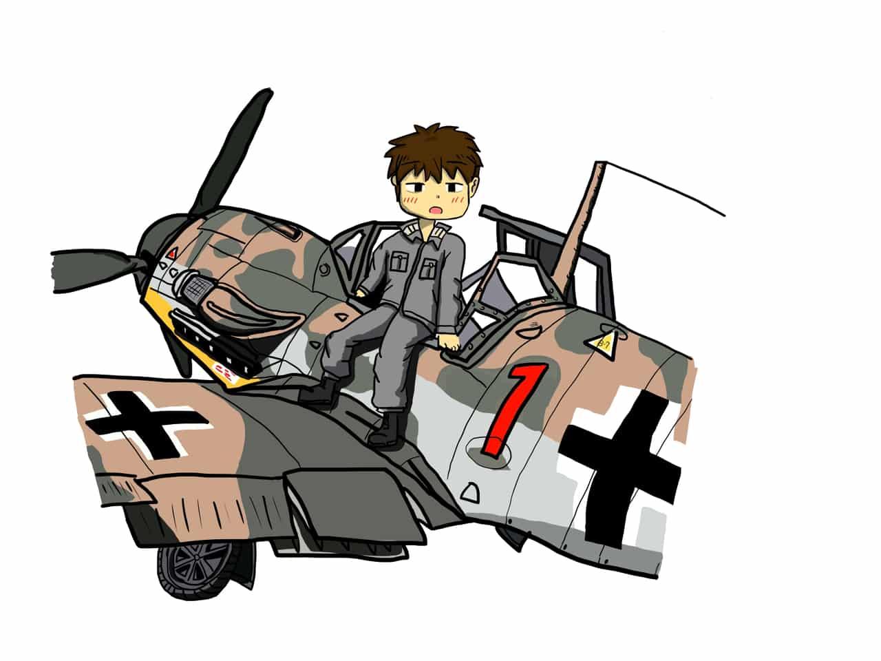 Bf109-G2 Illust of Kk90