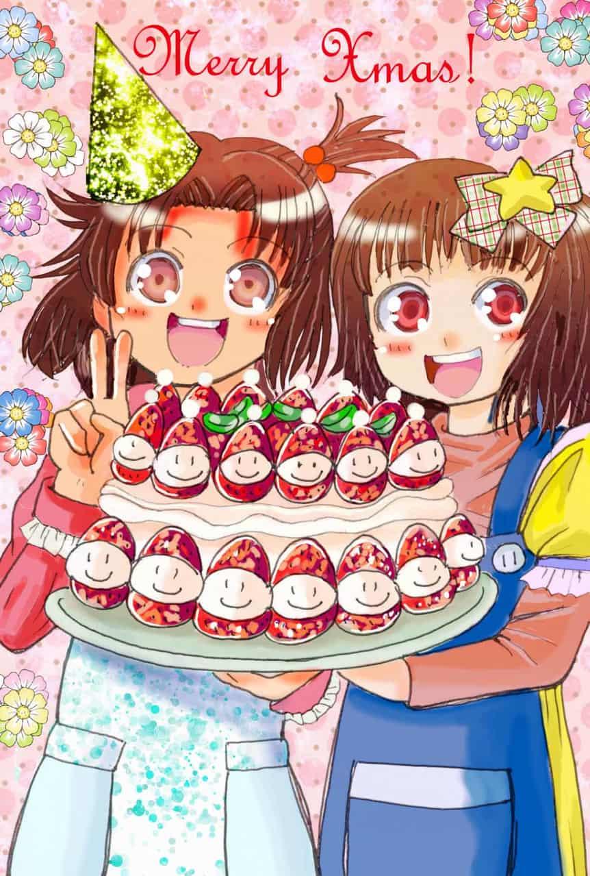 クリスマスケーキ「完成だよっ。♥。・゚♡゚・。♥。・゚♡゚・。♥。!!」