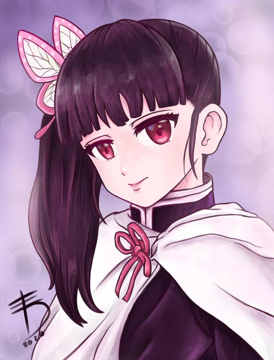 Kanao Tsuyuri 🦋 Illust of Derwelt DemonSlayerFanartContest original TsuyuriKanao anime eyes medibang cute character KimetsunoYaiba kawaii medibangpaint