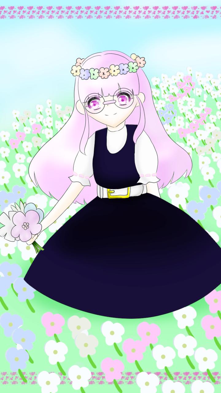 女の子 Illust of れもん#お味噌汁崇拝 April2021_Flower girl レッツワンドロ flower れもん🎀 digital